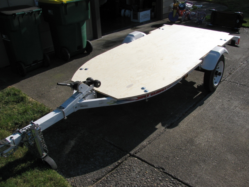 Modifying A Jetski Trailer For A General Motorcycle
