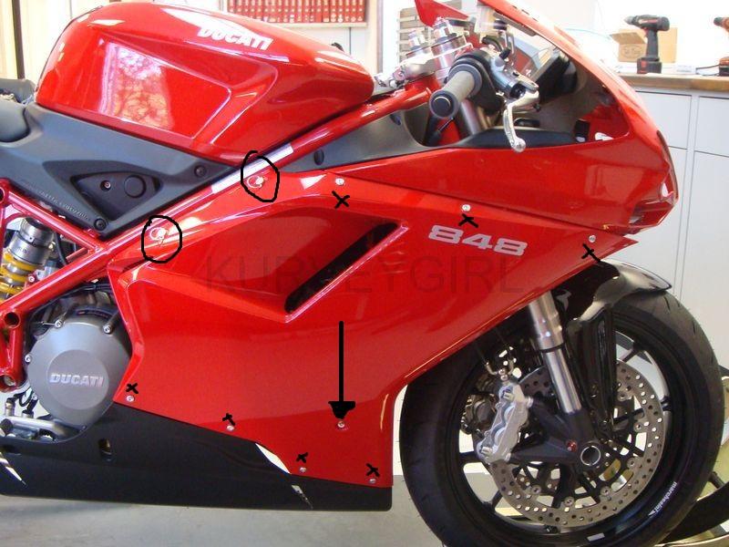 848/1098/1198 Fairing fasteners - Ducati ms - The Ultimate