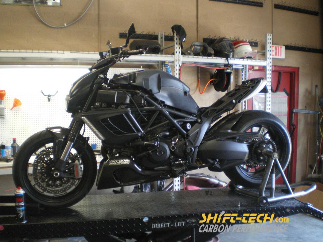 shift-tech diavel project bike part 2 : engine upgrade - ducati.ms