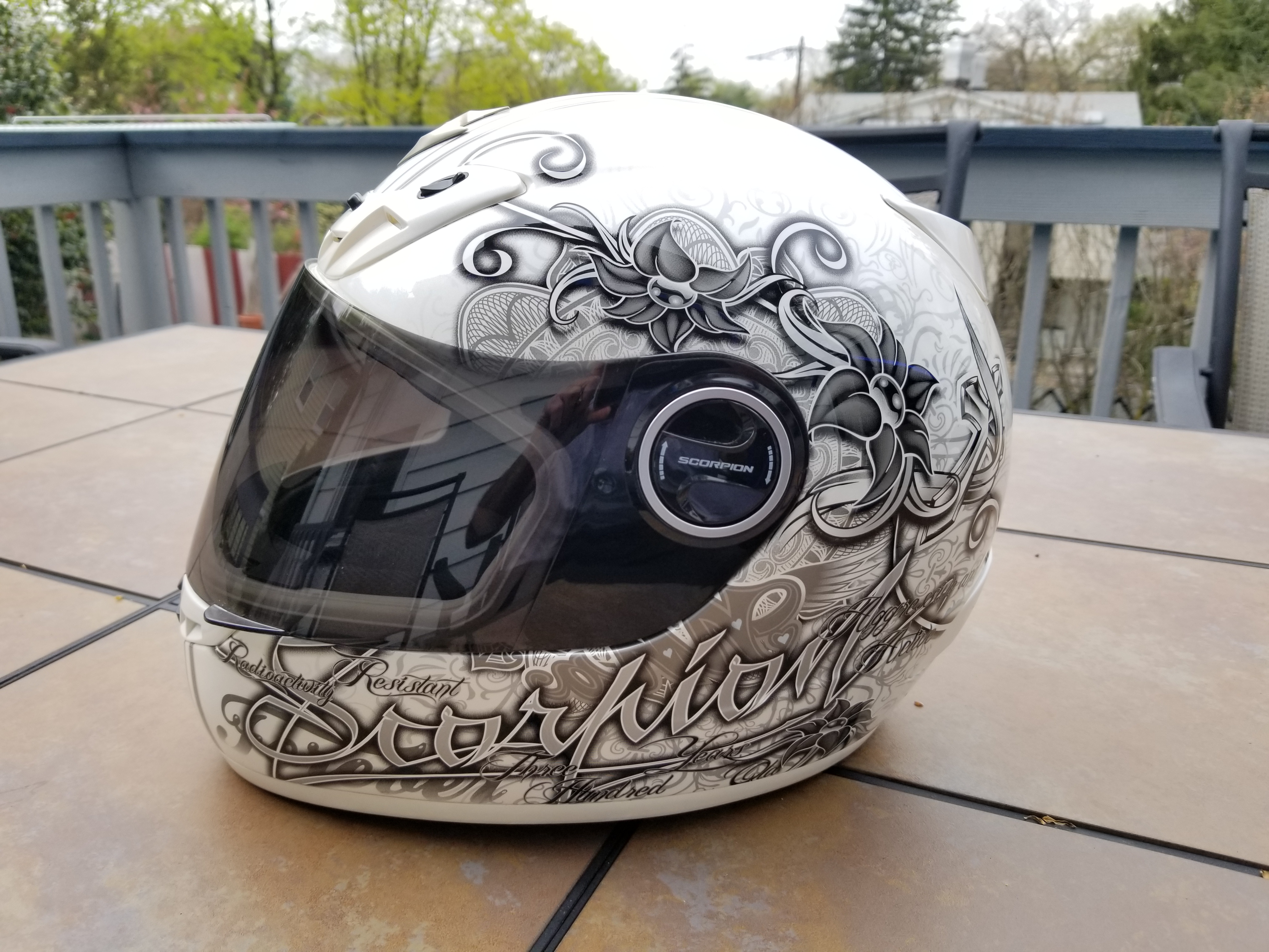 Scorpion Ann EXO-400 Street Motorcycle Helmet - Pearl White Extra Small XS-20190421_115242_1560210198871.jpg