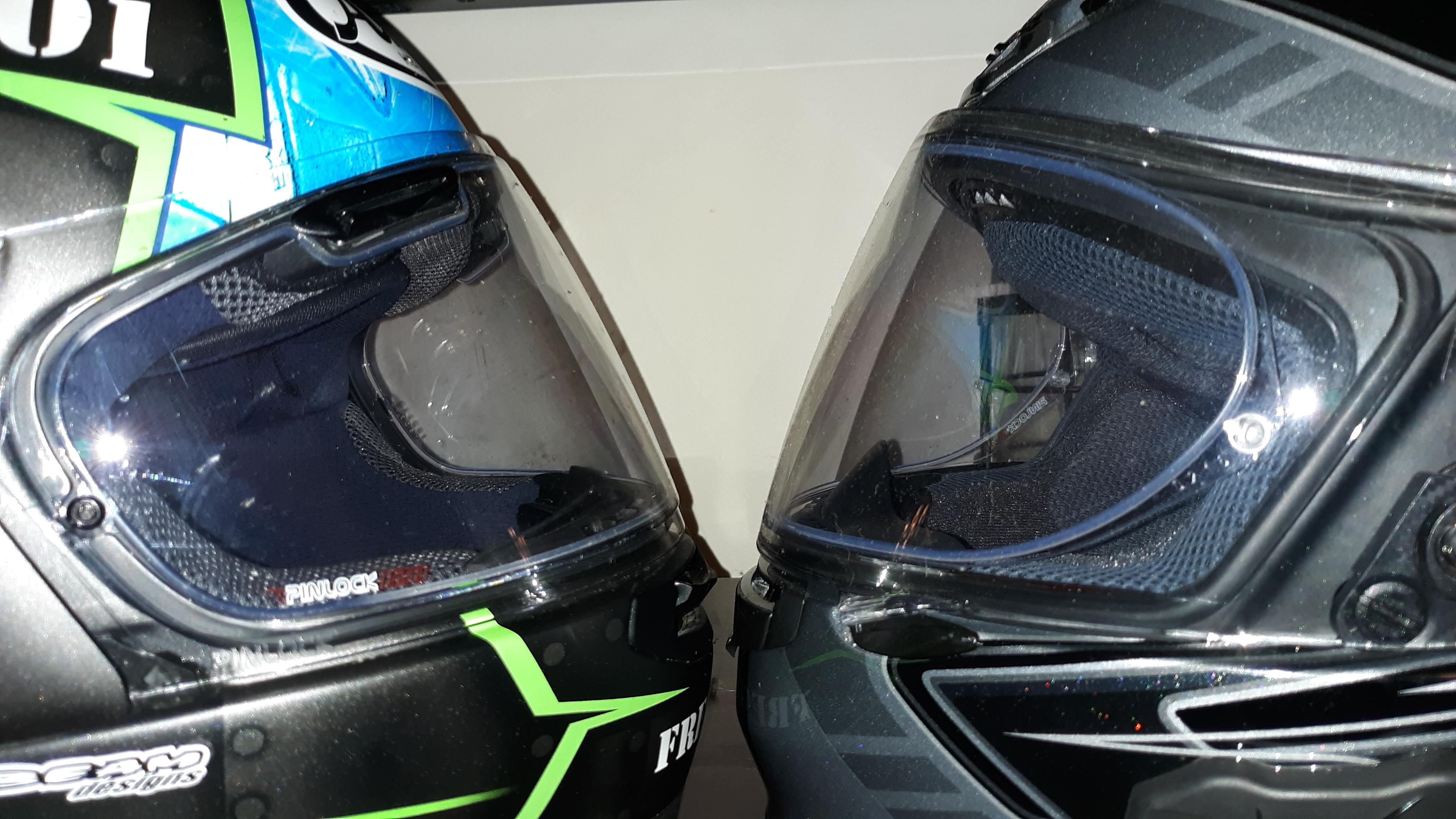 Shoei RF1200 v. Arai Corsair X: Head to head comparison-20190623_184855_1561330195114.jpg