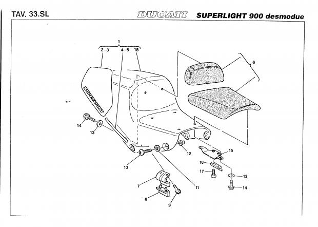 factory parts diagram rear seat area for 98 fe ducati ms the rh ducati ms Kawasaki Ninja ZX-10R Honda CBR1000RR