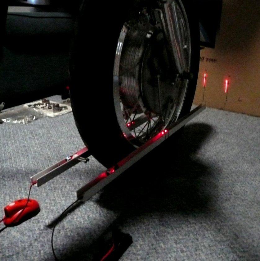 Laser wheel alignment - amazing! - Ducati ms - The Ultimate