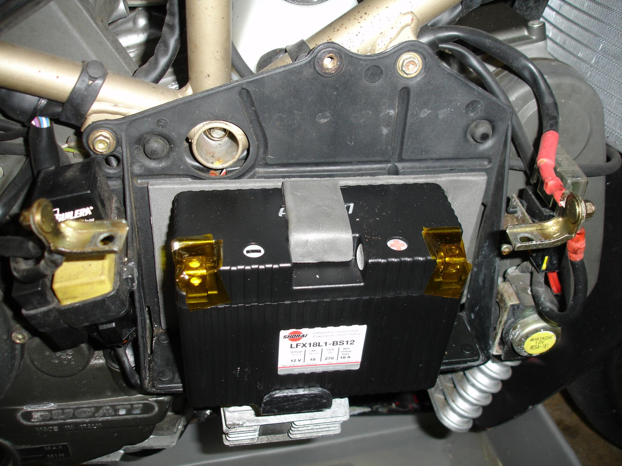 shorai battery install on my '97 916 - ducati.ms - the ultimate