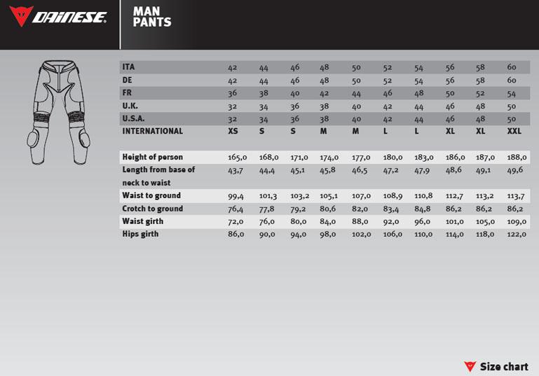 mens suit size chart