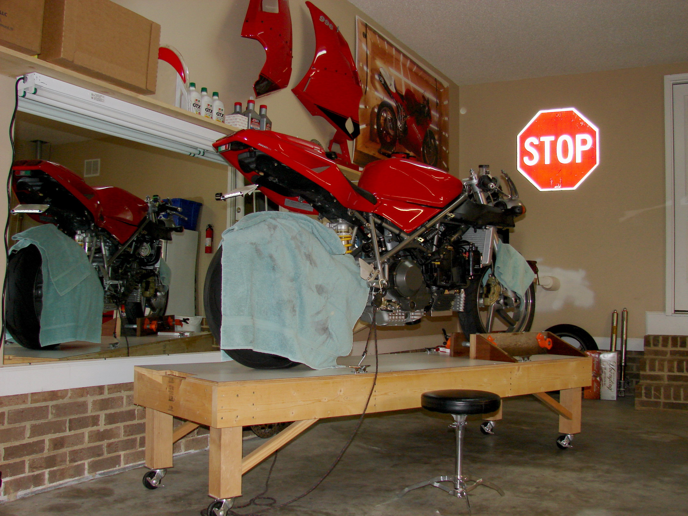 Home Made Maint Table Low Tech Thread Page 2 Ducati