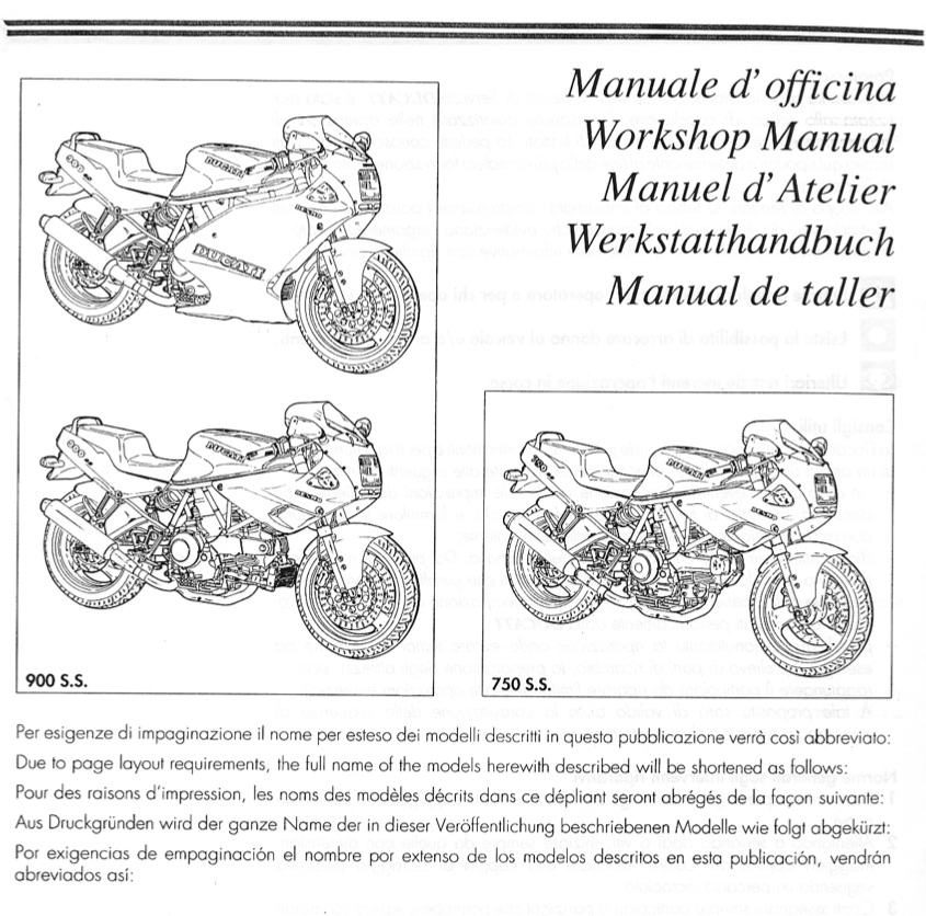 Free Ducati 750ss 900ss 1991-1996 Service Manual Offered