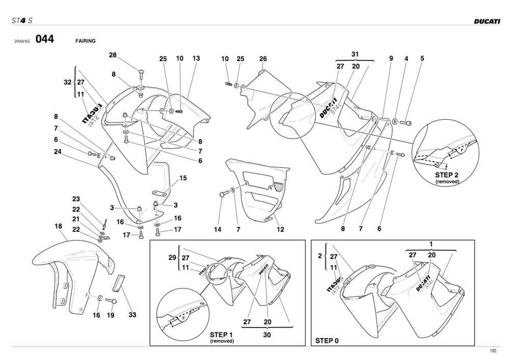 fairing removal 04  models - ducati ms