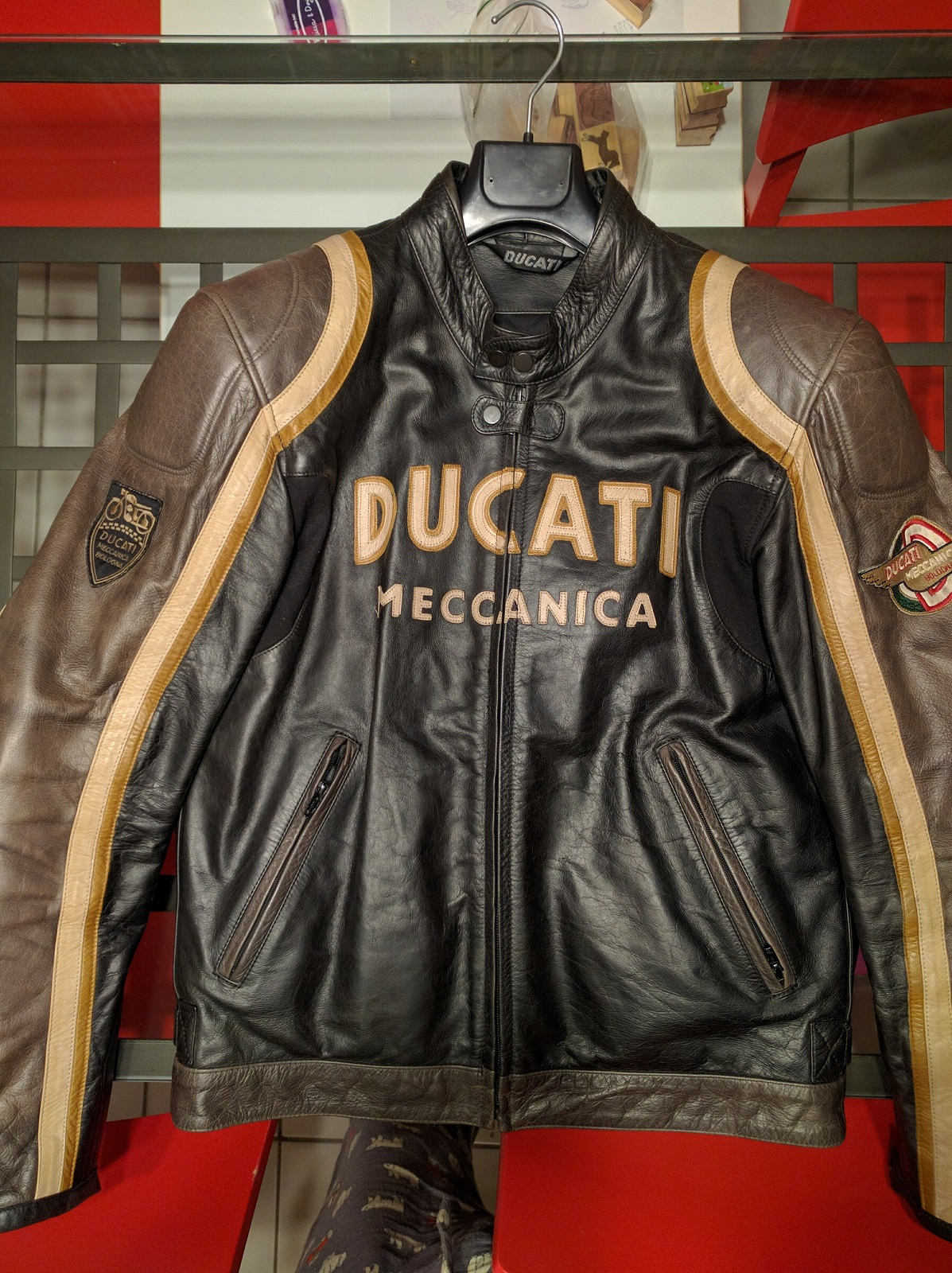 Ducati Meccanica Old Times Leather Jacket