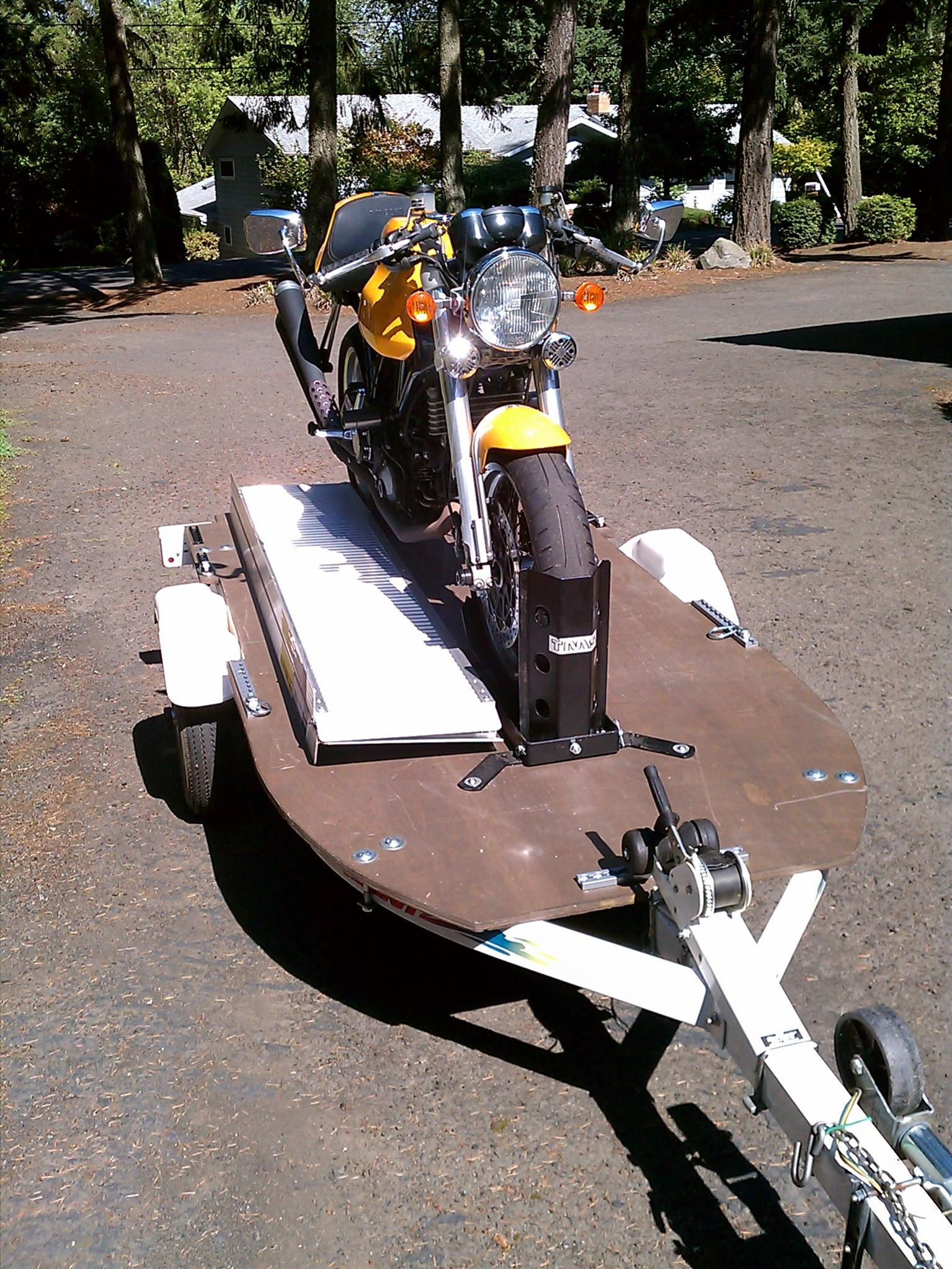 Repurposed Trailer Now For Hauling A Motorcycle Ducati