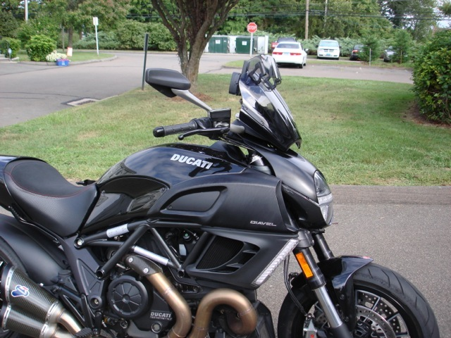diavel with mra windshield report - ducati.ms - the ultimate
