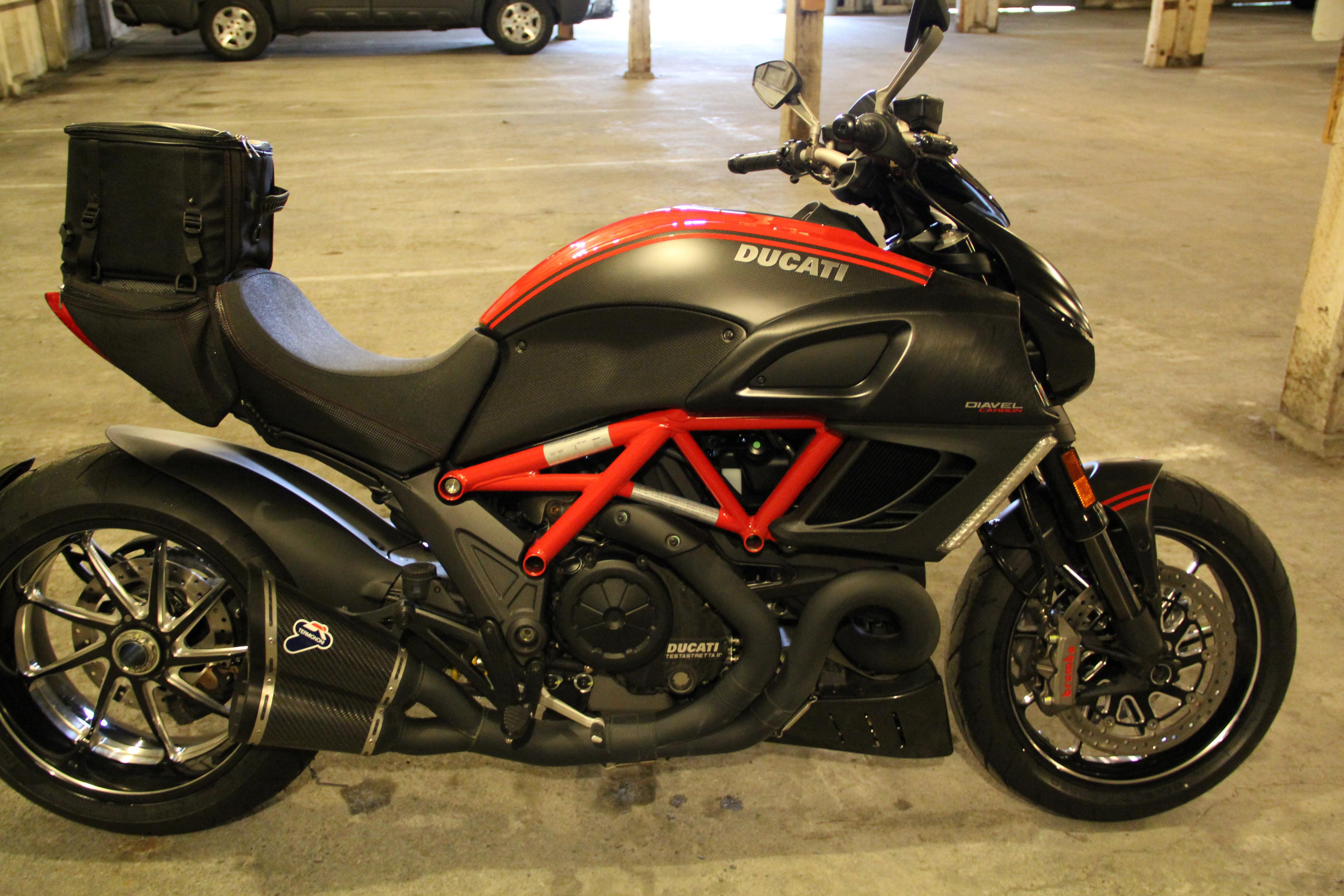 Brought Home My Carbon Red In The Rain Ducati Ms The Ultimate