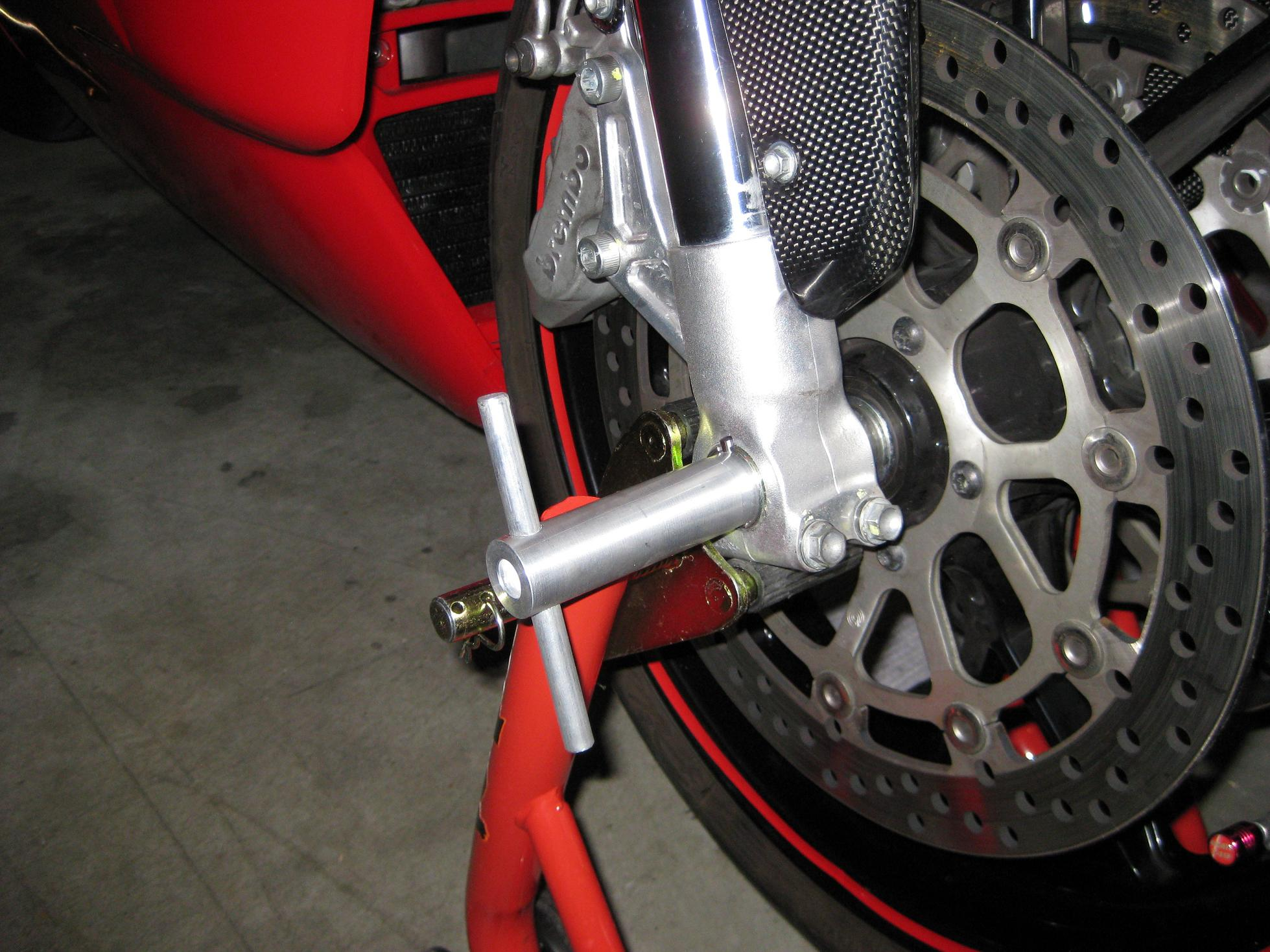 how do i lift the front end to change a tire? - ducati.ms - the