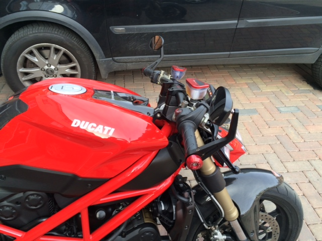 Rizoma Drag Bars Installed Wow Ducati Ms The