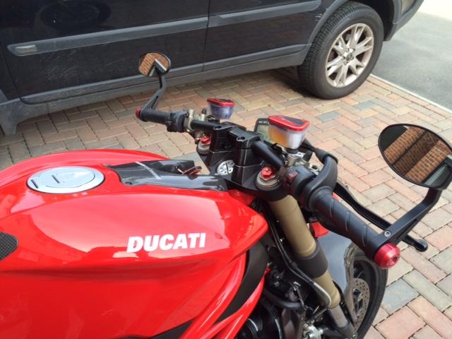 Rizoma Drag Bars Installed Wow Ducati Ms The