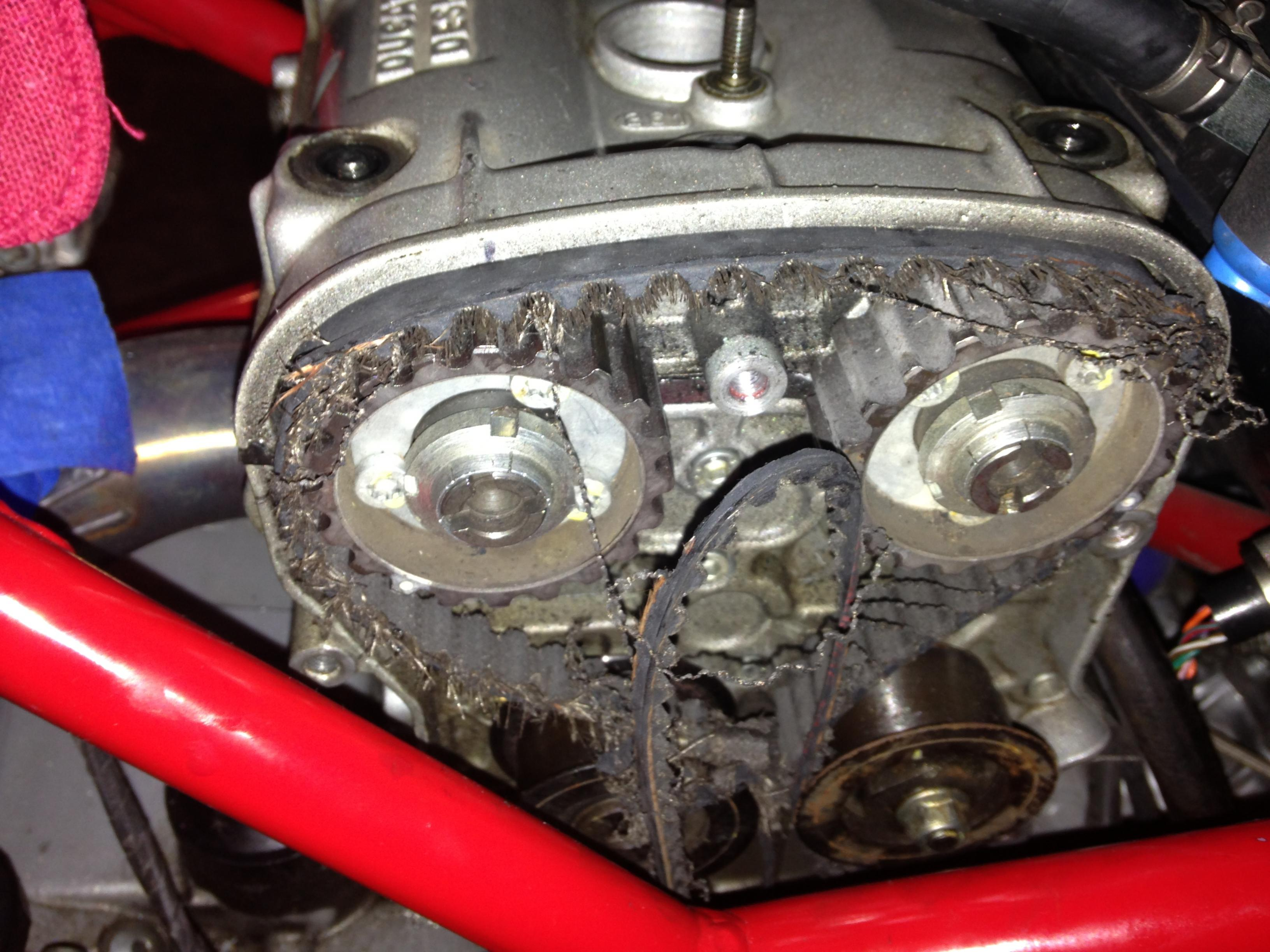 749 shredded timing belt..the saga cont.!! - ducati.ms - the