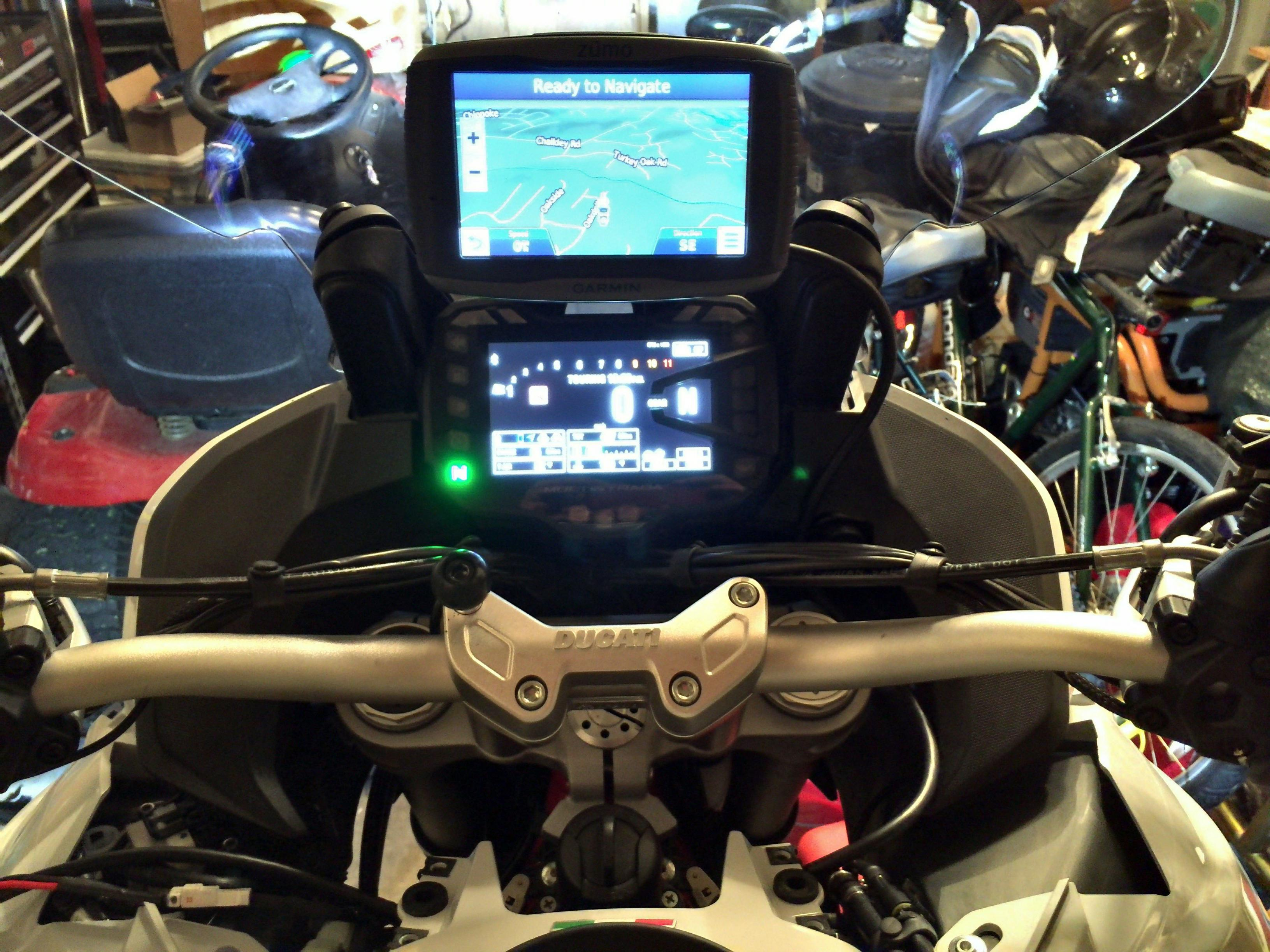 Gps Mount For 2015 Multistrada Page 3 Ducati Ms The