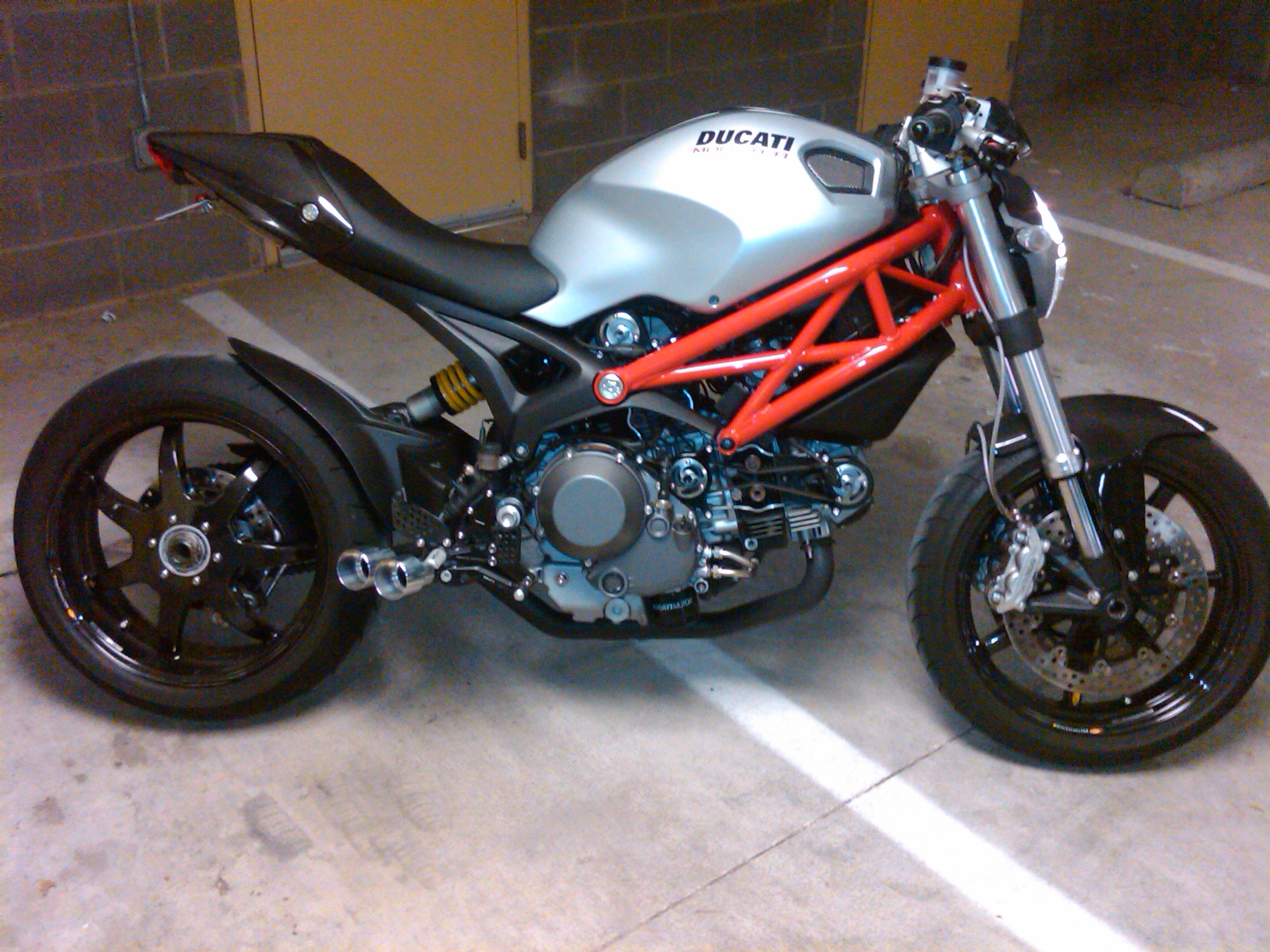 Ducati Monster Modified Exhaust