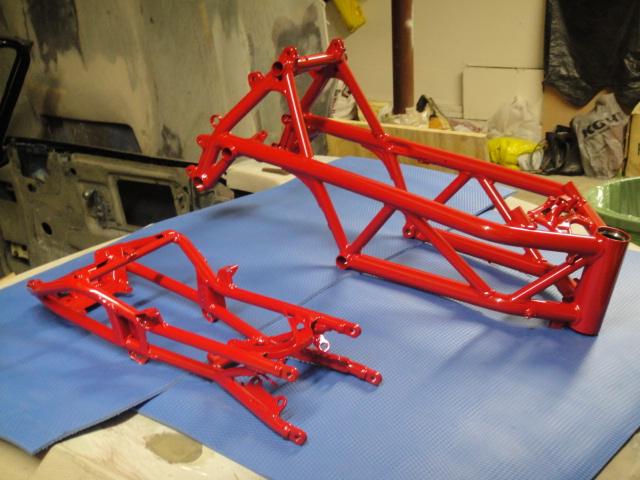click image for larger version name rebuild 001jpg views 3041 size - Motorcycle Frame Paint