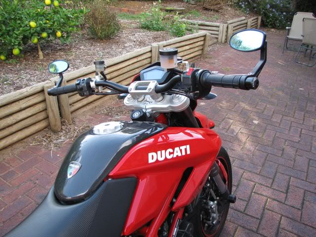 Hand Clearance With Crg Arrow Flipped Inwards Ducati