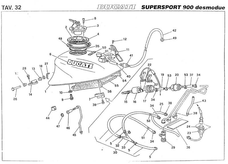 94 ss fuel line routing from tank - ducati ms