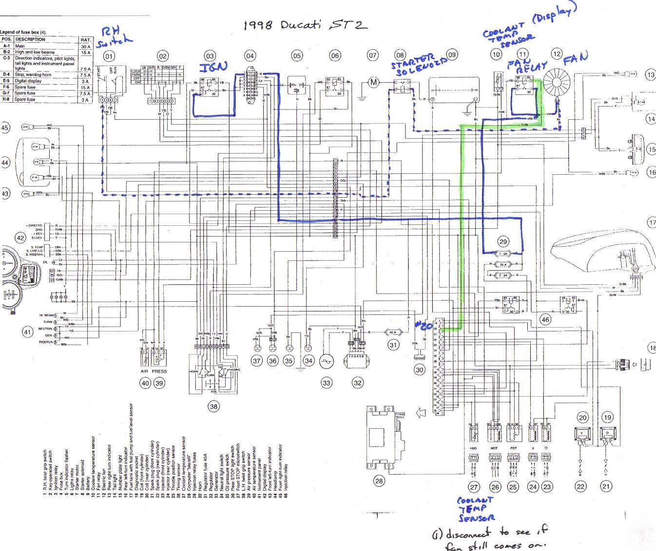 ducati st2 wiring diagram wiring diagram now