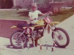 Brian and his 1974 175MX race bike and trophies-1.jpg