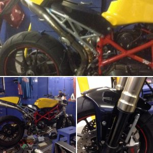 Hypermotard cafe racer project'