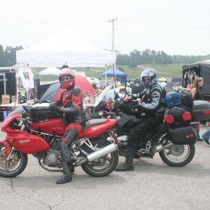 Dresda and Mike leave the Mosport rally