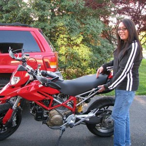 My Two Babies. My Wife And Bike.