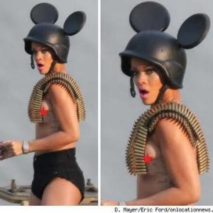 Rihanna Mickey Mouse Helmet Ears